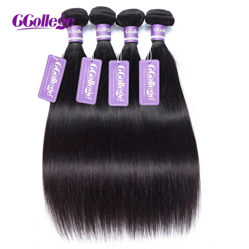 CCollege Brazilian Hair Weave Bundles Straight Human Hair Bundles natural color Double Machine Weft 8 26inch