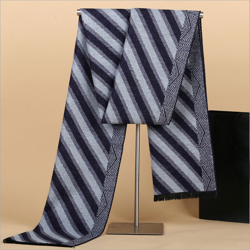5a2e6ab60f871 Brand new fashion casual joke stripe scarf for men thicken cashmere scarves  long shawls winter warm muffler size 180cm*30cm-in Scarves from Men's  Clothing & ...