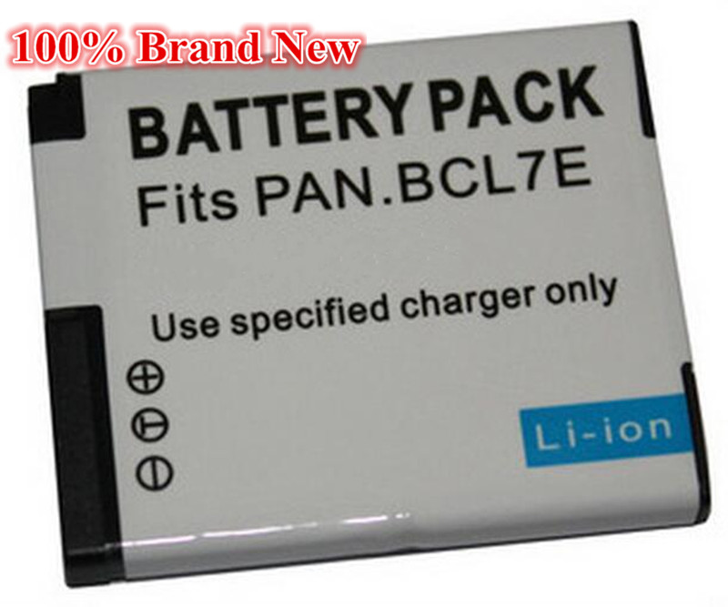 750mah 100 brand new Replacement Camera Battery For Panasonic DMW BCL7E DMW BCL7 DMC F5K DMC