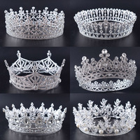 Snuoy Wedding Bridal Crown Luxury Rhinestone Full Circle Queen Crown and Tiara For Women Hair Ornaments Accessories
