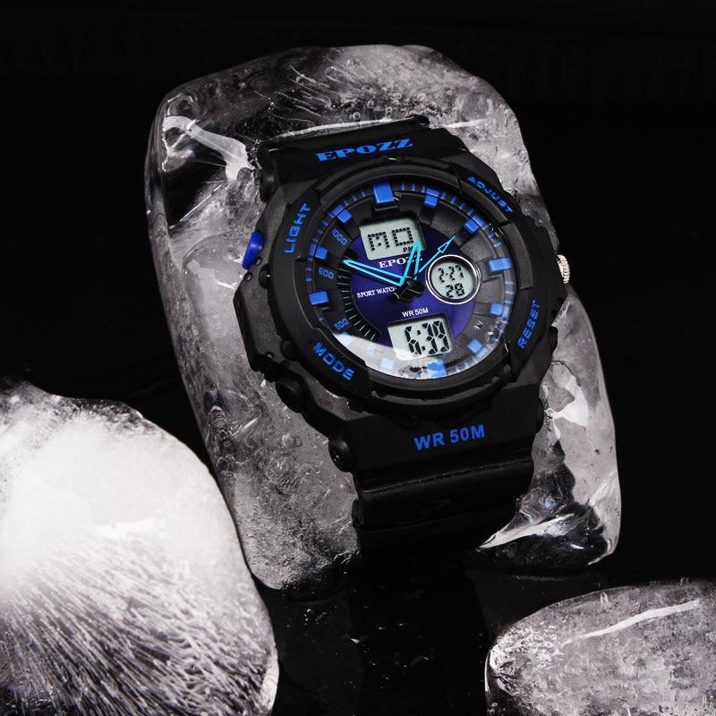 Herrenuhren Epozz Männer Sport Militär Uhren Led Digital Mann Marke Uhr 5atm Dive Swim Kleid Fashion Outdoor Jungen Elektronische Armbanduhren