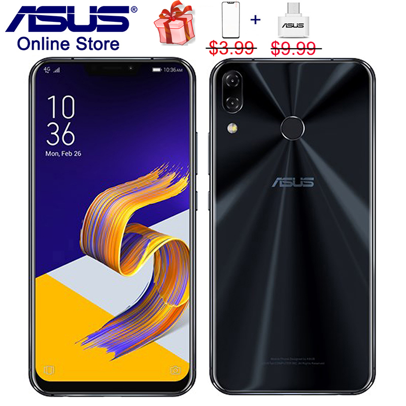 US $355 87 25% OFF|Global 2018 ASUS Zenfone 5 ZE620KL, 4G Phablet AI Camera  Smartphones, 6 2 inch, Snapdragon 636, Type C OTG, NFC, Mobile Phone-in