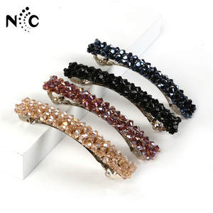 Rhinestone Barrettes Hairpins Hair-Accessories Crystal Elegant Girls Korean Hot-Sale