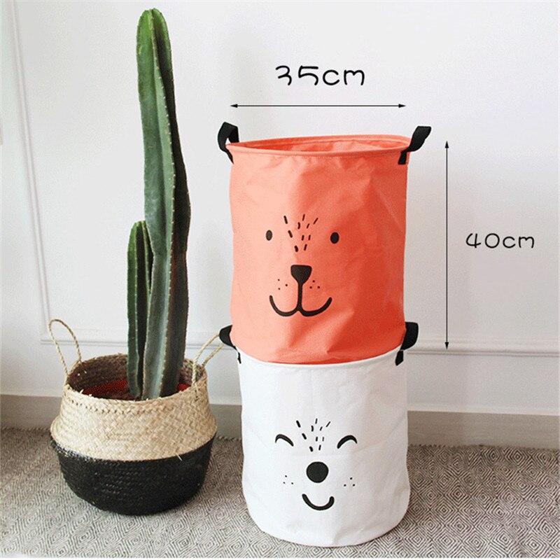 ROSEHOME dier gezicht bedrukte mand voor speelgoed wasmand - Home opslag en organisatie - Foto 5