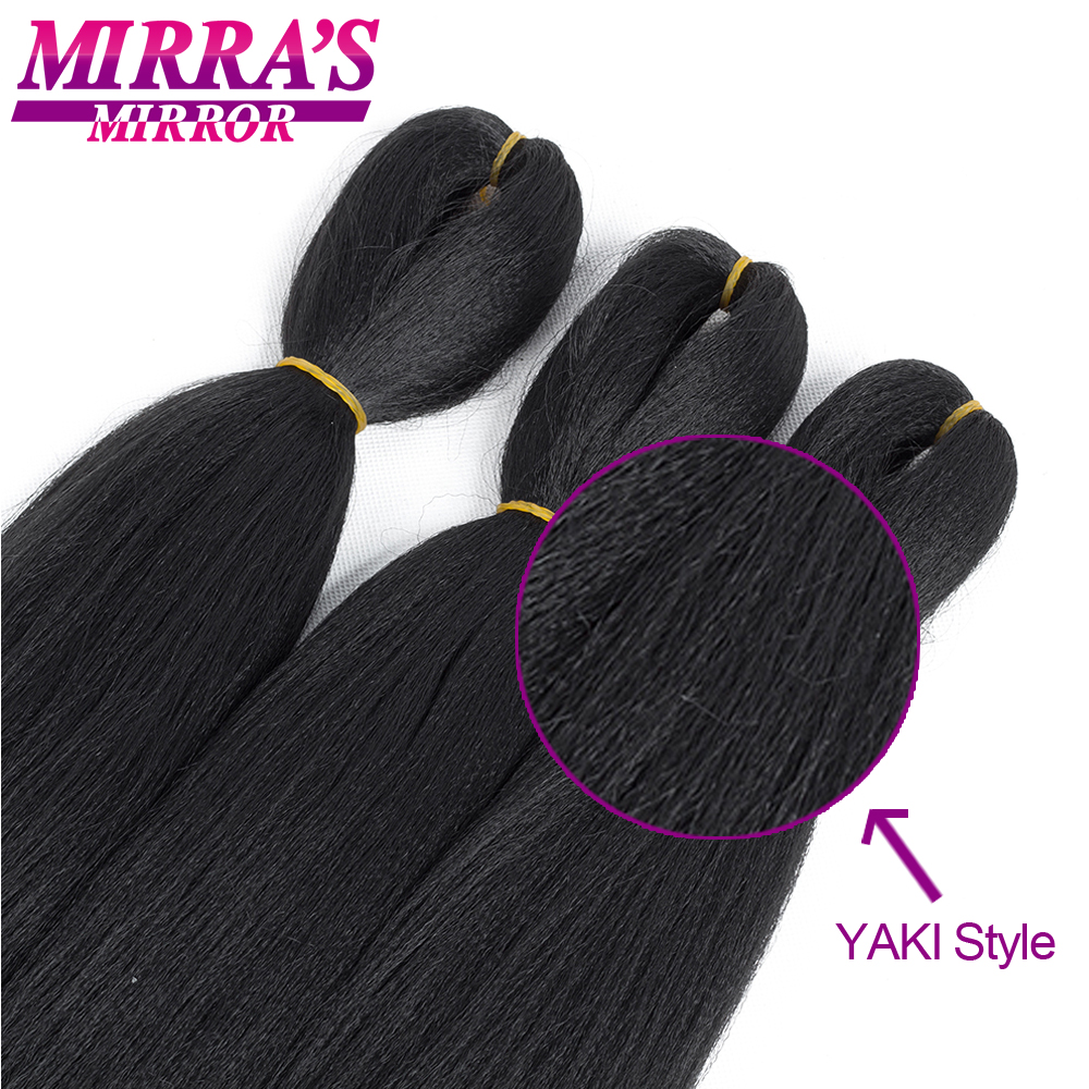 """Image 5 - Mirra's Mirror Jumbo Braids Hair 20""""26"""" T1B/Brown Synthetic Braiding Hair Ombre Crochet Braids Pre Stretched Hair Extensions"""