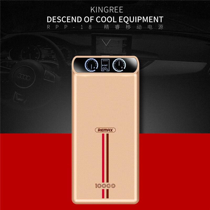 Original 10000 mah remax para el iphone 6s 7 más lcd banco portable cargador de