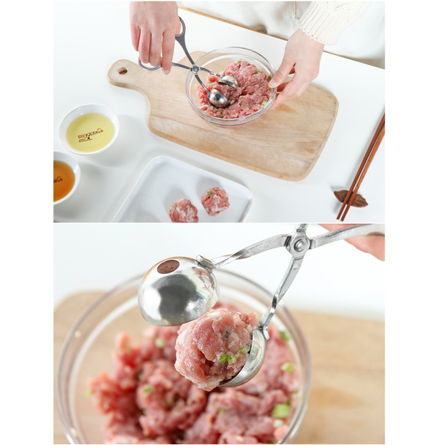 WALFOS qualité alimentaire en acier inoxydable pratique fabricant de boulettes de viande farci pince à boulettes de viande bricolage poisson viande boule de riz fabricant