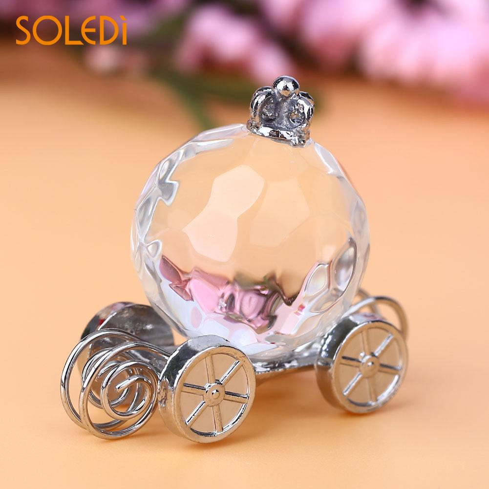 Crystal Pumpkin Cart Fairy Tale For Wedding Baby Shower Birthday Gifts Souvenir