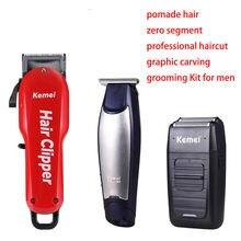 Профессиональная машинка для стрижки волос kemei мужской беспроводной