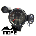 SPECIAL OFFER Original Logo Red Blue White LED LCD MPH Lamp 80MM Odometer Speedometer Gauge for Car With Shift Light