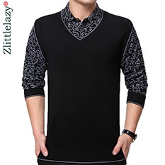 2018-brand-new-casual-long-sleeve-business-mens-shirts-fake-two-pieces-male-patchwork-polo-shirt