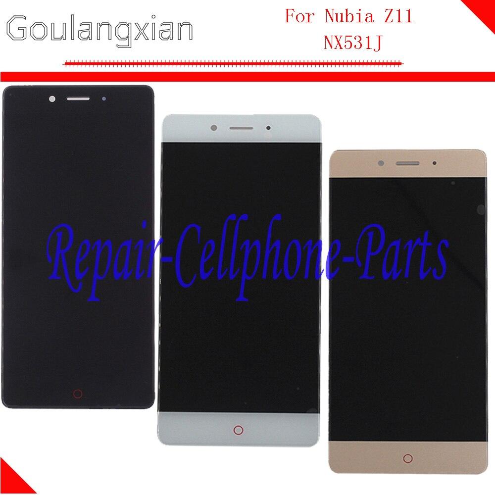 Noir/Blanc/Or LCD Full Display + Écran Tactile Digitizer Assemblée Verre Remplacement Pour ZTE Nubia Z11 NX531J