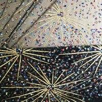 1 yard Mix Colorful Stone Pyrotechnics Bronzing Sequin Fabric Gold Fireworks Translucent Dress Lace Shabby Chic Telas