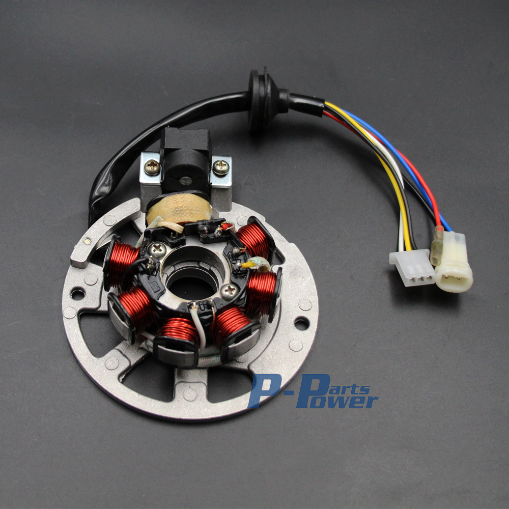 small resolution of 6 wire stator alternator for yamaha jog minarelli scooter moped 49cc 50cc 90cc new in