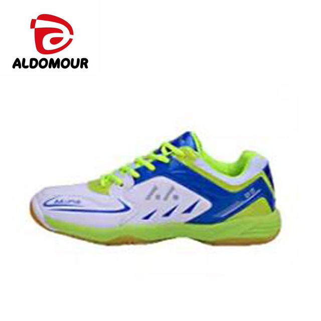 reputable site 136e2 0f01c ALDOMOUR Men Women Volleyball Shoes 2018 Anti Slipper Hard-Wearing Sports  Shoes Table Tennis Shoes Blue Green Color zzl