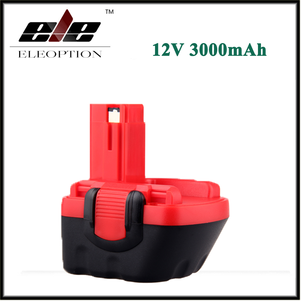 Eleoption 12 V 3000 mAh Ni-MH Batterie De L'outil Électrique pour Bosch BAT043 BAT045 BAT046 BAT049 BAT120 BAT139 26073 35249