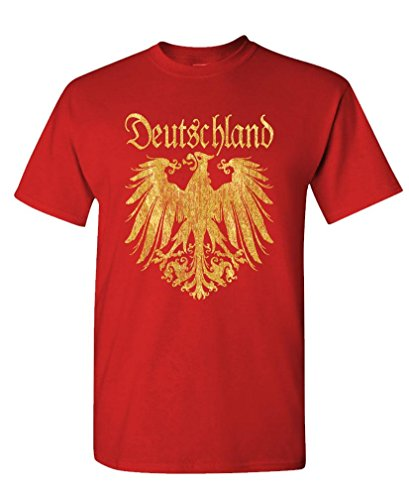 T Shirt Men Short Sleeve Live Nice - Deutschland Metallic Gold - Mens Cotton T-shirt