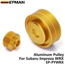 Jdm производительность кривошипный шкив для SUBARU IMPREZA WRX 7 8 9 2.0L WRX GDB GDA под приводом кривошипный шкив Золотой EP-PYWRX