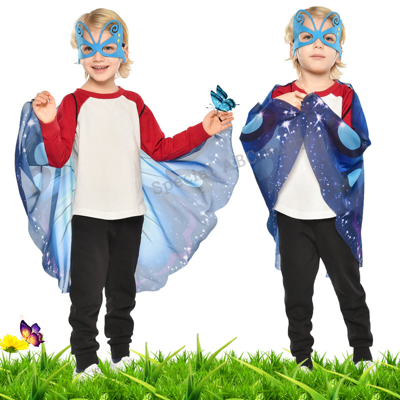 3 Colors Available Original New kids Childrens Play Chiffon Butterfly Wings&Mask  Set Performance Props Show