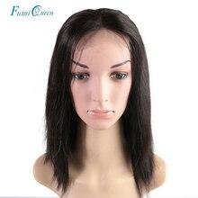 Ali FumiQueen perruque avant en dentelle avec cheveux de bébé 180%/250% densité péruvienne droite Non Remy cheveux 4x4 dentelle fermeture perruque livraison gratuite