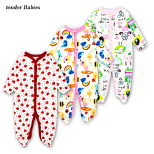 2018 Autumn baby boy girl rompers Newborns clothing Long Sleeved clothes cartoon romper Infantil babies 12M