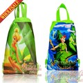 20pcs Tinker Bell Cartoon Drawstring Backpack Bags 34*27CM School Furniture Non-Woven Fabric Kids Party & Candy Bags as Gift