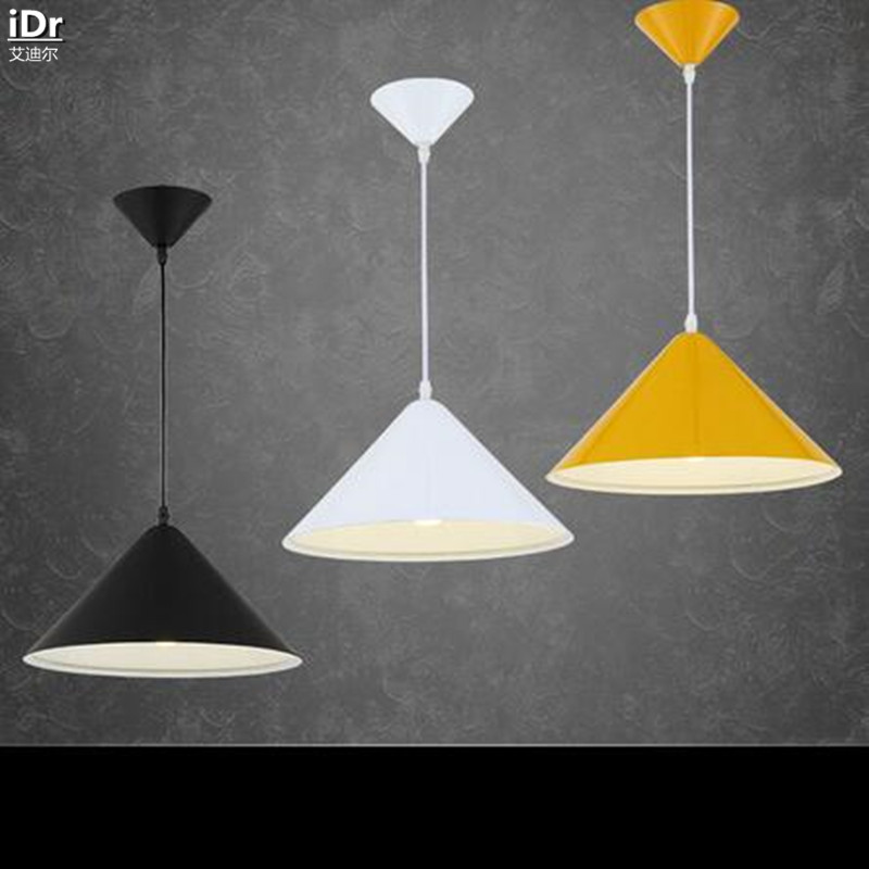 single head black and white modern minimalist restaurant lamp creative clothing office never rust pendant cheap office lighting