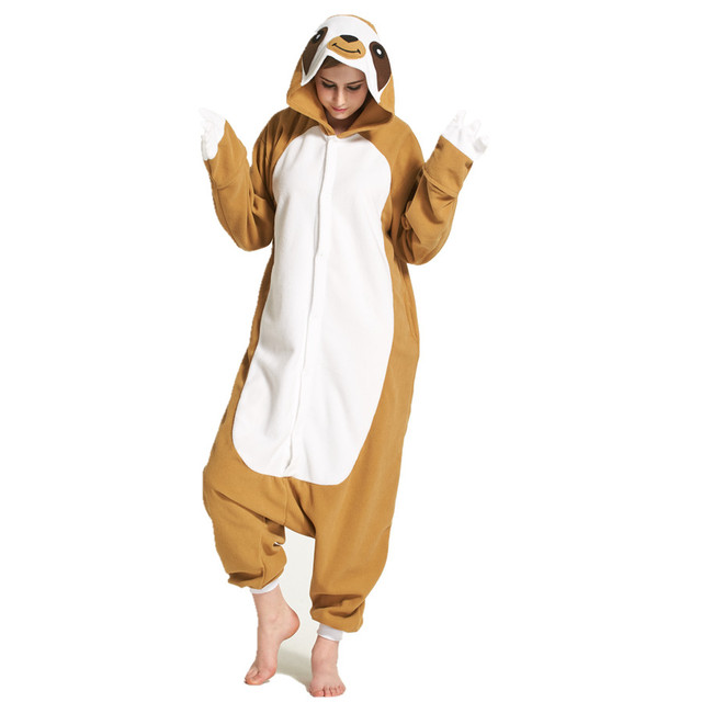 59ef1490469f Adults Polar Fleece Sloth Animal Kigurumi Women s Men s Onesies Pajamas  Cosplay Costume for Halloween and Carnival Party