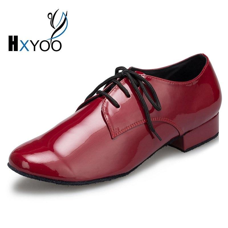 HXYOO 2017 New Model Black Men Latin Dance Shoes Ballroom Shoes Salsa Tango L146