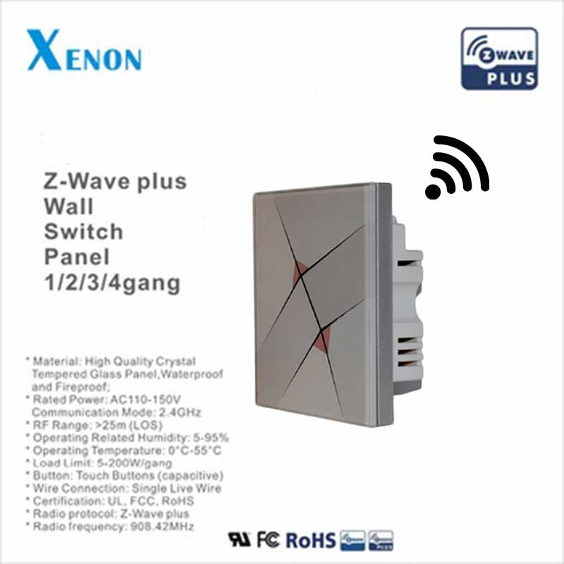Xenon Switch Lighting Switch Panel EU Z Wave Smart Home