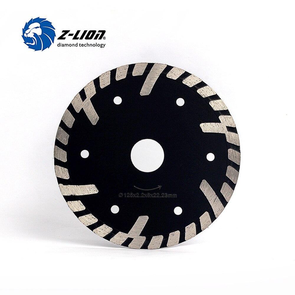 цена на Z-LION 5 Inch 125mm Diamond Cutting Wheel Turbo Rim Stone Concrete Metal Cutting Saw Dry Wet Diamond Saw Blade Circle Disk