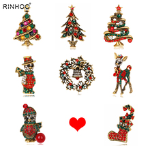 Christmas Gifts Nice Red Shoe Boot Tree Animal Brooches Pins