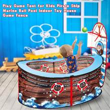 Children Game Tent Outdoor Indoor Pirate Ship Ball Pool Play Tent Kids Safe Foldable Playpens Game Pool Of Balls For Kids Gifts(China)
