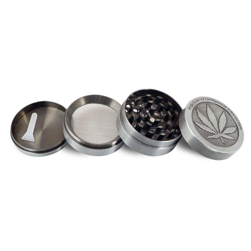 1 Pc En Alliage de Zinc Coin Forme Motif Herbal Herb Grinder Tabac Fumée de Cigare Magnétique 40 MM Main Muller Tabac Concasseur 8zcx-ca175