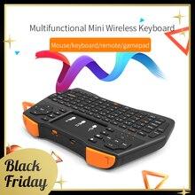 Sikai mini teclado sem fio portátil 2.4g, touchpad mouse multimídia handheld mouse ar controle remoto para tv projetor