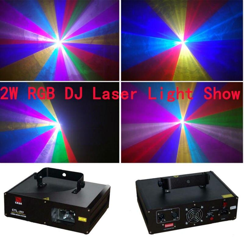 Nuove Attrezzature Dj 2000 mw Sistema di Visualizzazione del Laser Per La Discoteca di Illuminazione Della Fase