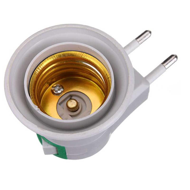 Светодиодный адаптер конвертер E27 светодиодный светильник лампа база гнездо для штепсельной вилки Европейского типа с кнопкой вкл/выкл держатель для перезаряжаемой лампы