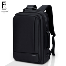 FENRUIEN Business Backpack Men 15 Inch Laptop Backpack Bag Large Mochila Black Unisex Waterproof Teenager Travel Men Backpack