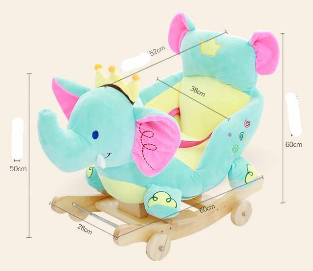 Baby swing Plush Horse Toy Rocking Chair Baby Bouncer baby Swing Seat Outdoor Baby Bumper Kid Ride On Toy Rocking Stroller Toy 1