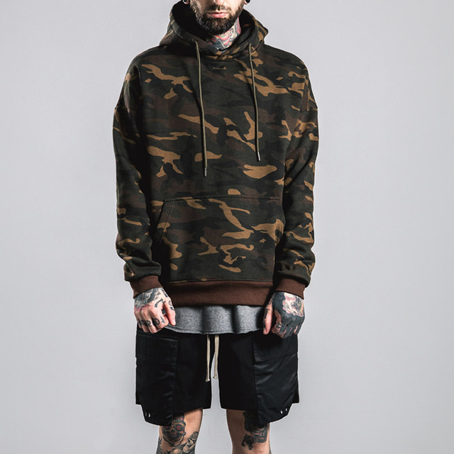 wang Camouflage pablo Hoodies Military Men Cotton Warm army sweatshirts one piece hoodie yeezy fear of god thrasher palace