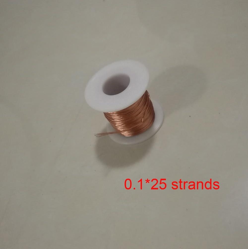 0.1*25 Strands Polyurethane Enameled Copper Wire Multi strand Litz ...