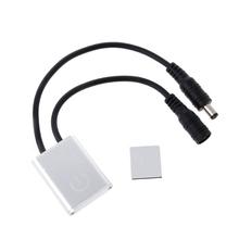 Przenośny automatyczny mały wyłącznik dotykowy 12V 24V 3A regulacja jasności dotykowa regulacja ściemniania dla lampy LED Strip tanie tanio OOTDTY CN (pochodzenie) NONE Touch Sensor Dimmer Switch Z tworzywa sztucznego Przełączniki Normal Dotykowy włącznik wyłącznik