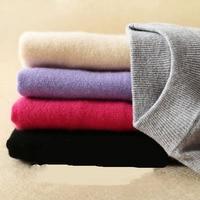 2017 Cashmere Wool Sweater Women Sweaters O Neck Winter Warn Bottom Sweater Solid Long Sleeve Knitted