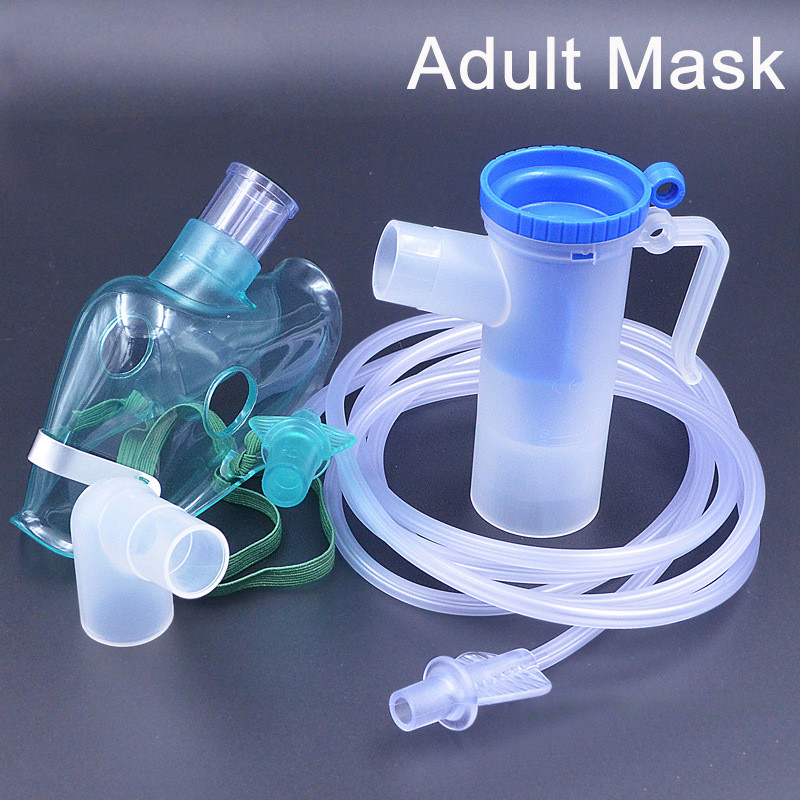 Disposable Inhale Nebulizer Mask Set Household Atomizer Medical Oxygen Cup Mouthpieces For Adult &Child Family Medicine Use