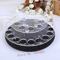 28 slot Clear rotating acrylic make up organizer, lipstick display stand