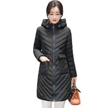 2017 women Winter jacket new lady park long female jacket Solid color coat high quality warm Women's winter Parkas coats 5L41