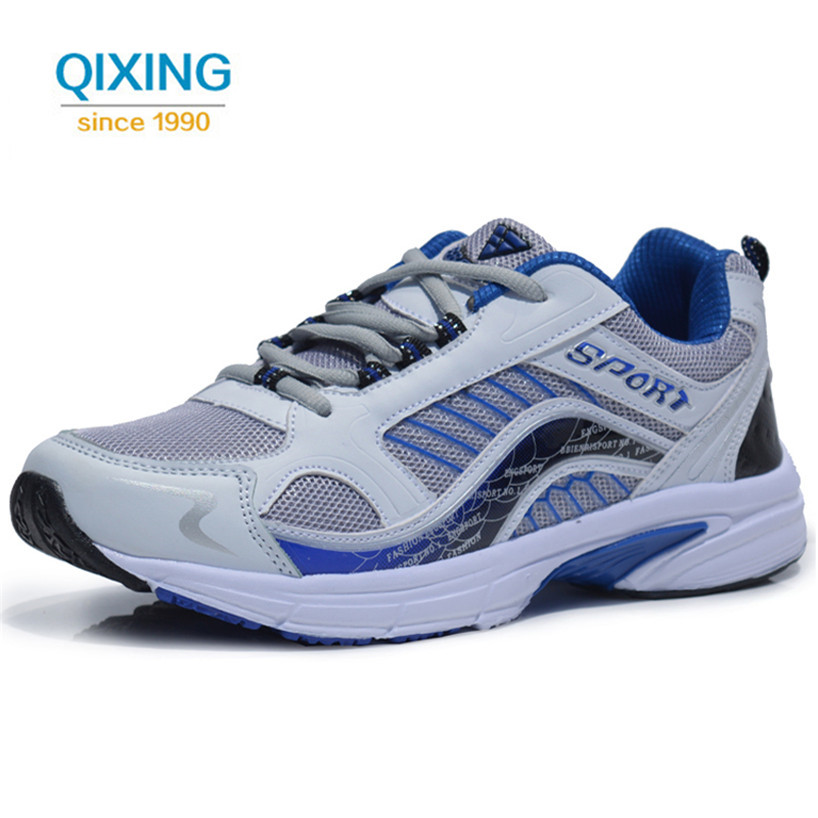 ФОТО Big Size 39-48 Air Mesh Sneakers Men's Running Shoes Outdoor Jogging Trainers Medium(b,m) Lace-up Breathable Sport Shoes For Men