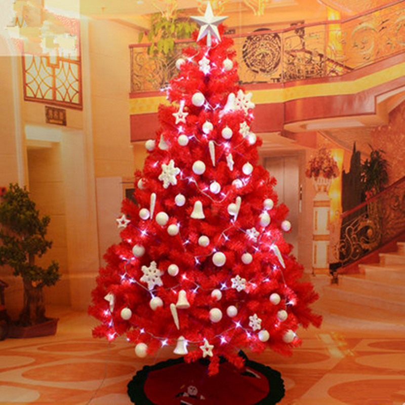 Christmas tree 1 8 m 180cm big red christmas tree Large decorated christmas trees
