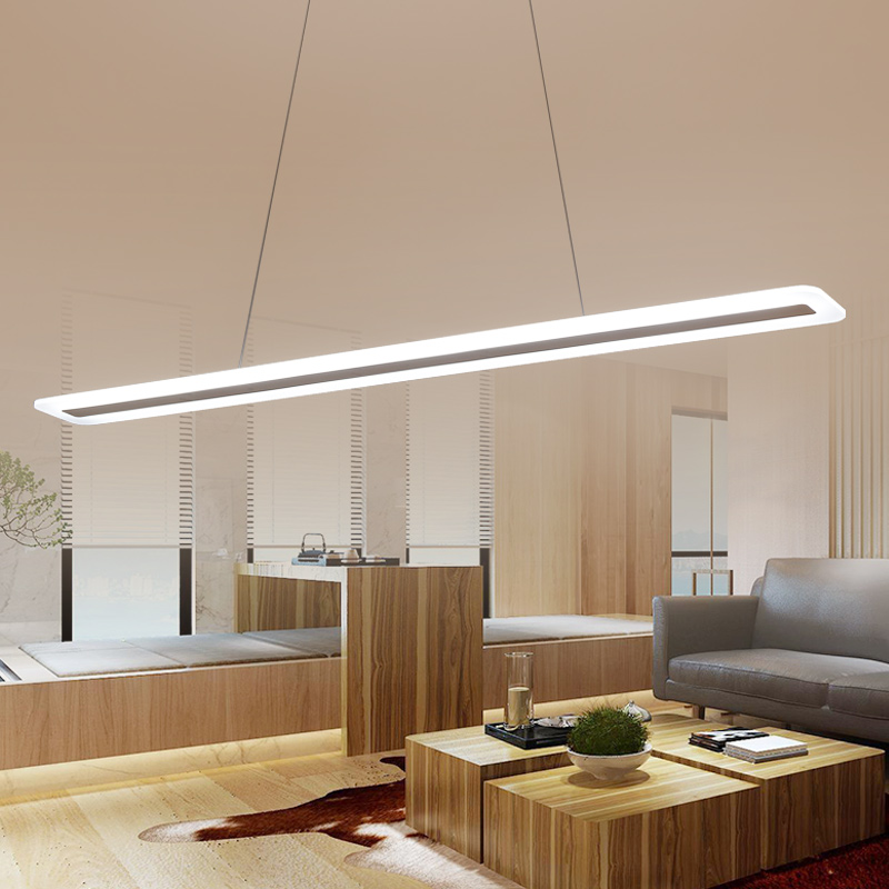 Image 2 - L40 120cm Modern Hanging Lamp for Kitchen Dinning Living Room led Pendant Lights Metal+acrylic Pendant Lamp Suspension Luminaire-in Pendant Lights from Lights & Lighting