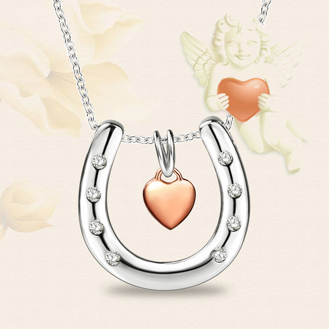 925 sterling silver lucky horseshoe pendants necklaces for women 925 sterling silver lucky horseshoe pendants necklaces for women cubic zirconia letter u chain love mozeypictures Gallery